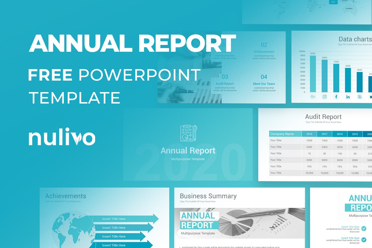 Annual Report Powerpoint Template Free Download Nulivo Market