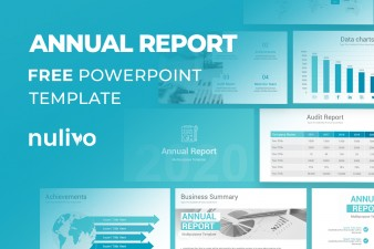 Annual Report PowerPoint Template Free Download