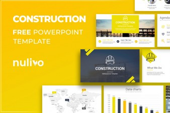 Construction PowerPoint Template Free Download