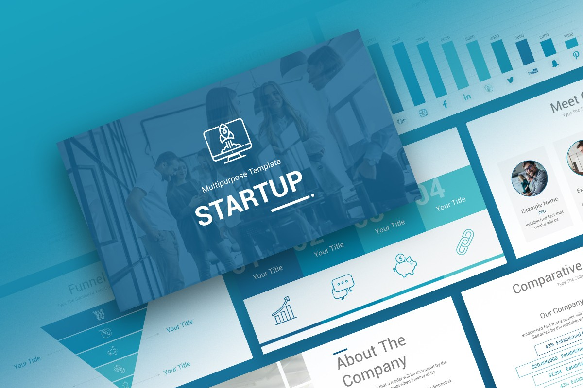 Startup Free Powerpoint Presentation Template Nulivo Market