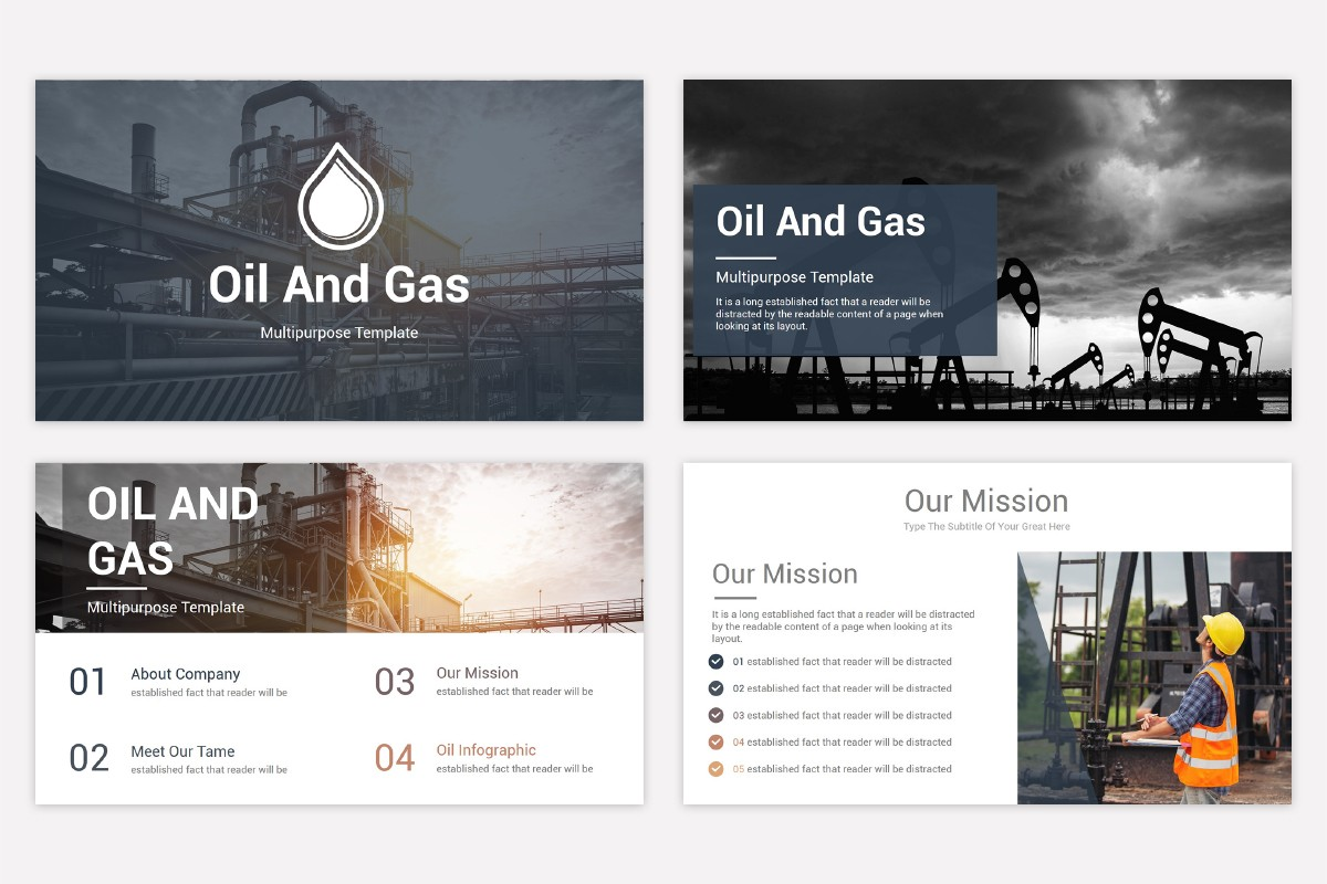 Oil And Gas Powerpoint Template Free Download Nulivo Market