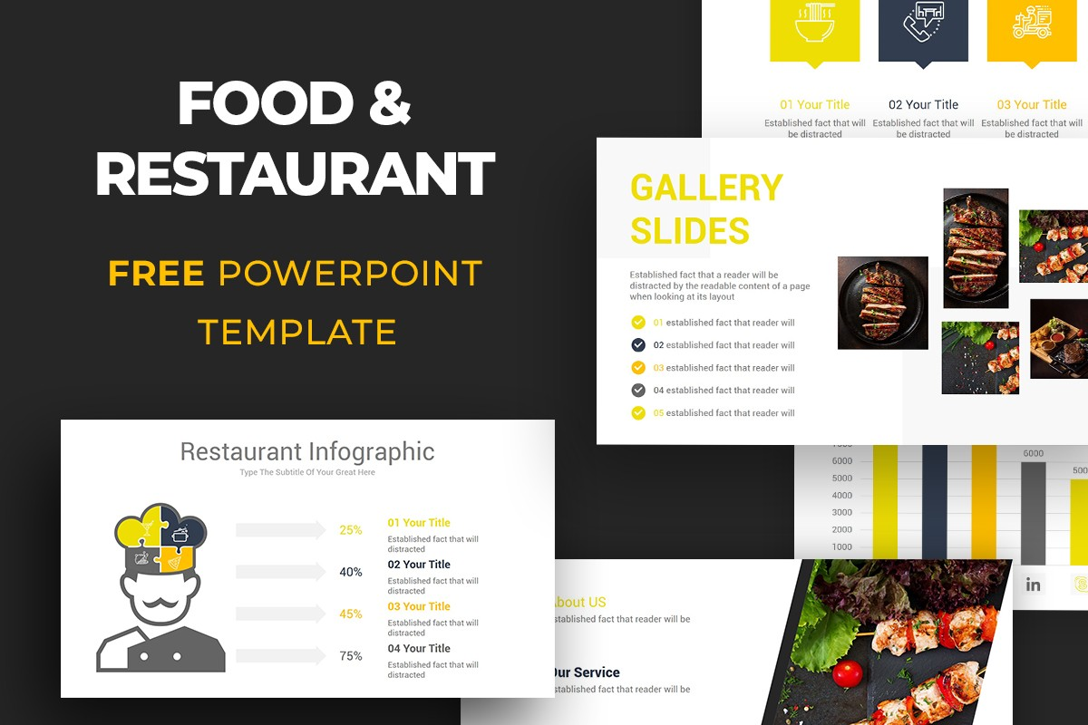 Free Food Restaurant Powerpoint Template Nulivo Market
