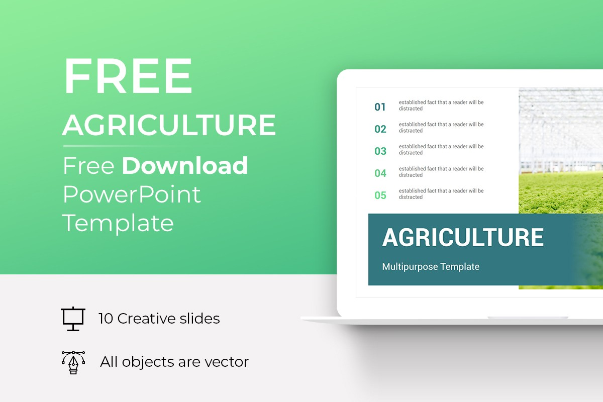 Free Agriculture Powerpoint Template Nulivo Market