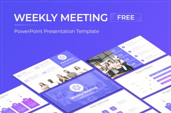 Weekly Meeting Free PowerPoint Template