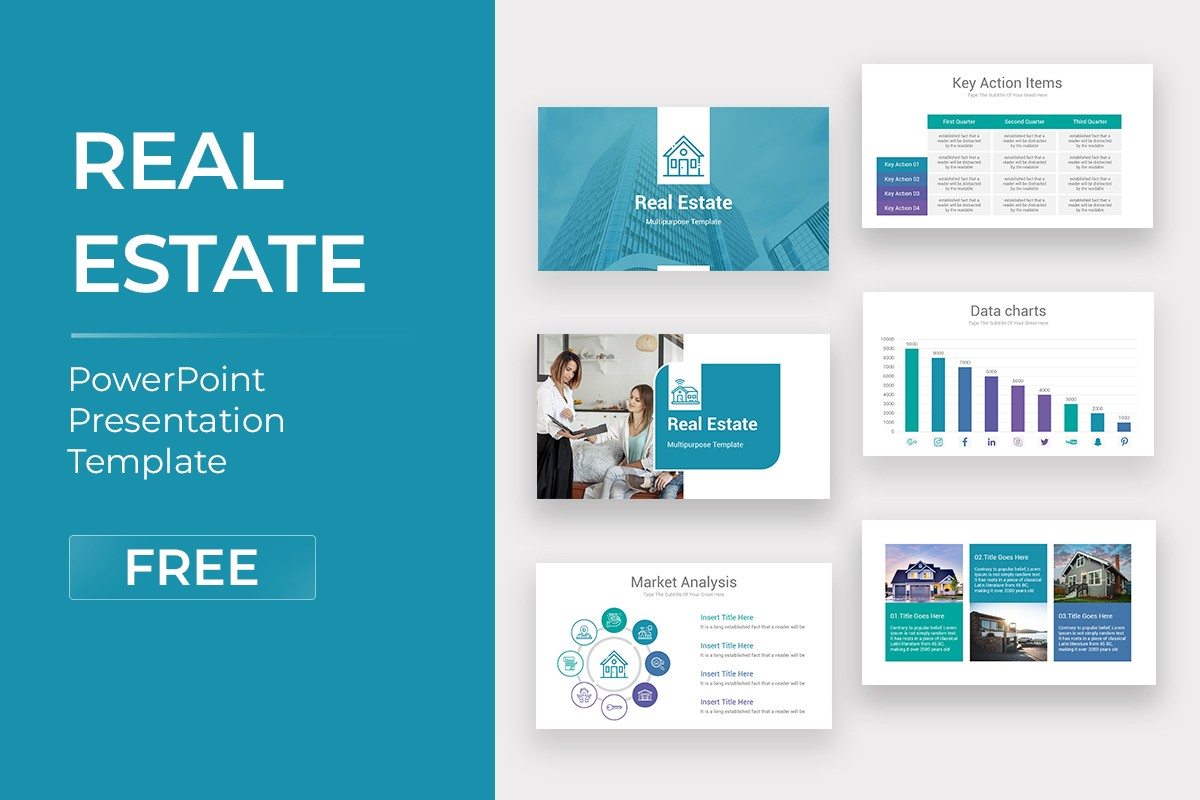 Real Estate PowerPoint Template Free Download