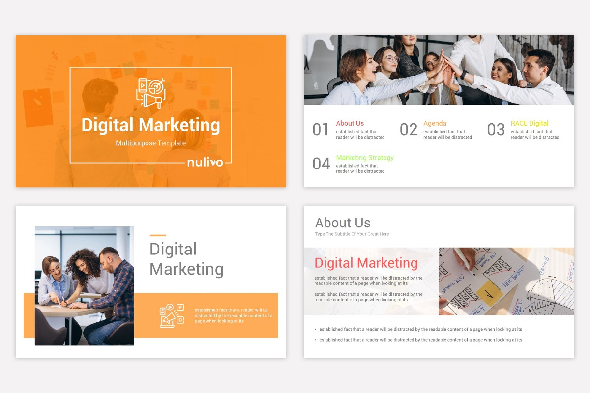 Free Digital Marketing Powerpoint Template Nulivo Market