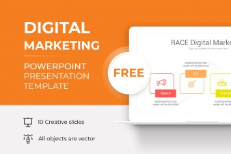 Free Digital Marketing PowerPoint Template