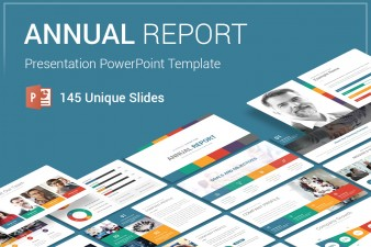 Annual Report PowerPoint Template For Presentation