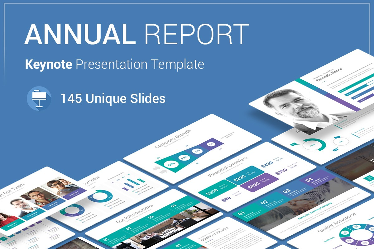 Annual Report Keynote Template For Presentation