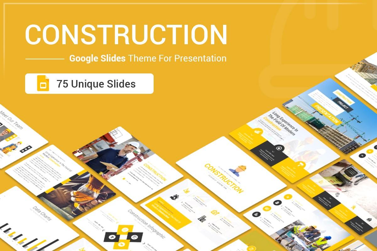 Construction Google Slides Theme For Presentation