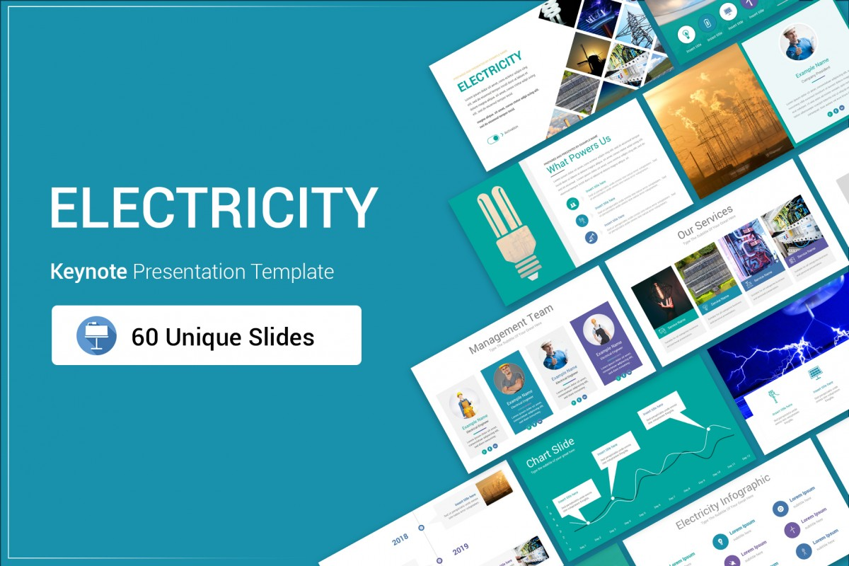 Electricity Keynote Presentation Template