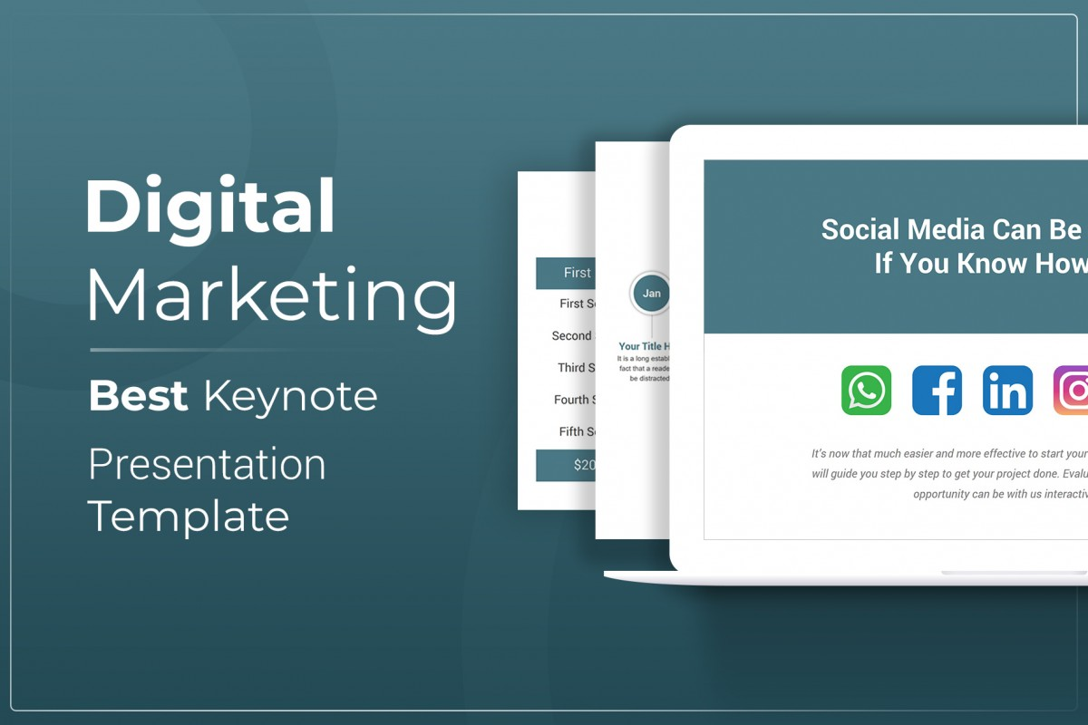 Digital Marketing Keynote Presentation Template