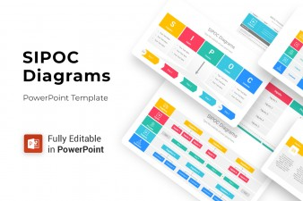 SIPOC Diagrams PowerPoint Template