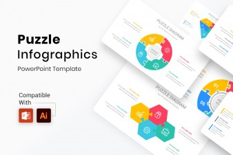 Circle Puzzle Infographics PowerPoint Template